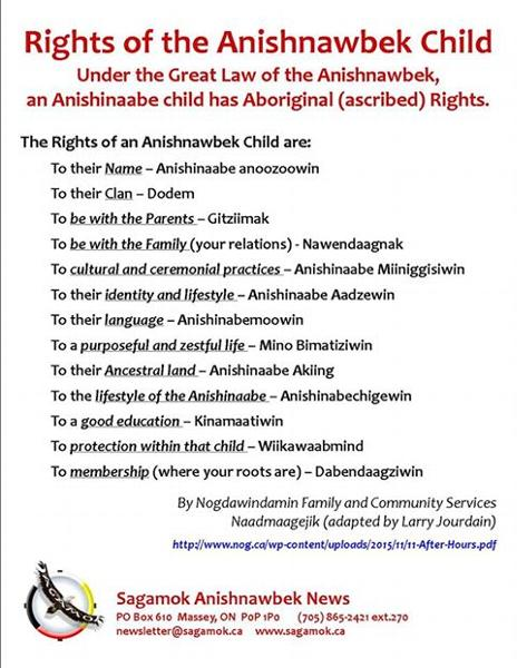 Rights of an Anishnawbek Child