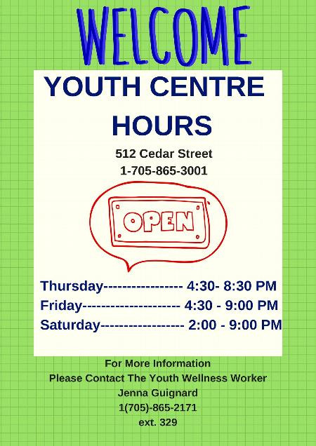 New Youth Centre Hours Announced