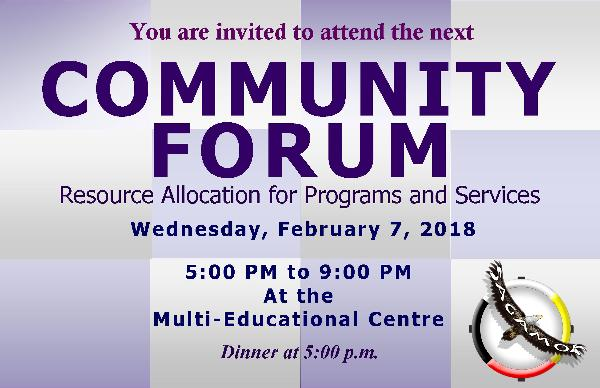 Upcoming Community Forum: Resource Allocation for Programs & Services